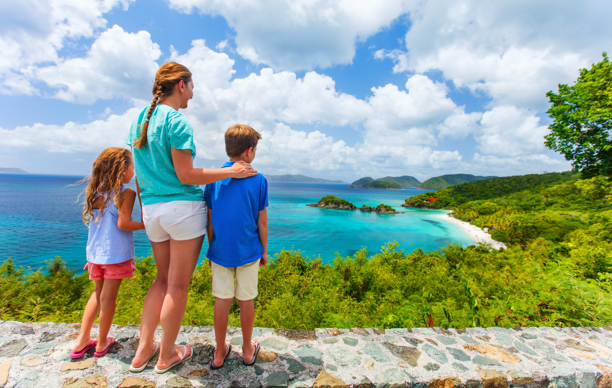 Family at St. John Island