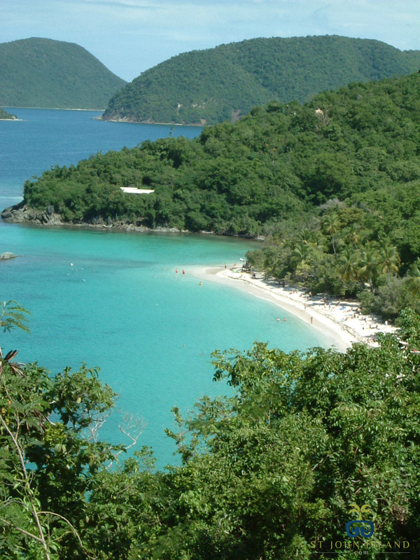 Beautiful Blues and Greens at Trunk Bay, St. John Island