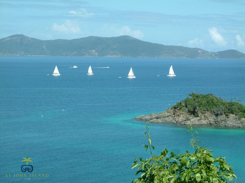 view from st. john island north shore